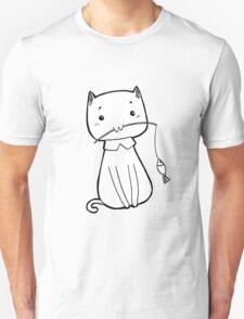 Cat caught fish Unisex T-Shirt