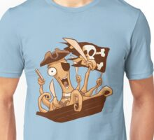 Pirate Octopus Unisex T-Shirt