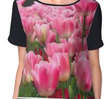 Pink and red tulips Chiffon Top