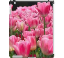 Pink and red tulips iPad Case/Skin