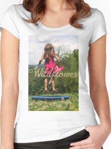 -Wildflower- Women's Fitted Scoop T-Shirt