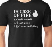 In Case of Fire - Programmer Instructions Unisex T-Shirt