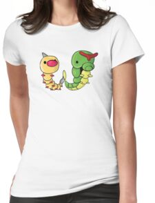 Weedle and Caterpie Womens Fitted T-Shirt