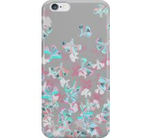 Flight - abstract in pink, grey, white & aqua iPhone Case/Skin