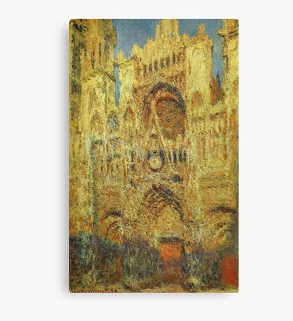 Claude Monet - Rouen Cathedral At Sunset Canvas Print