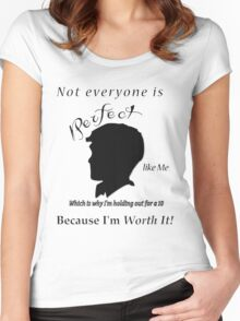 1 being the ugliest and 10 pretty  Women's Fitted Scoop T-Shirt