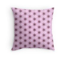 Ribbony Pink Throw Pillow