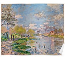 Claude Monet - Spring by the Seine ( 1875)  Poster