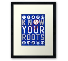 "Dodgers ""Know Your Roots"" Framed Print"