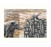 how to hook up with an elephant  (antiquated) Art Print