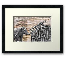 how to hook up with an elephant  (antiquated) Framed Print