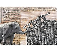 how to hook up with an elephant  (antiquated) Photographic Print