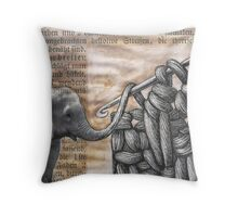 how to hook up with an elephant  (antiquated) Throw Pillow