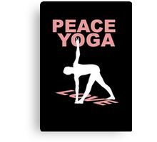 Peace yoga love Canvas Print
