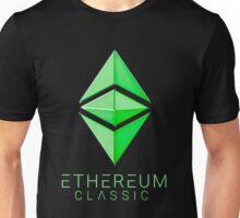 Ethereum Classic simple (green metal) Unisex T-Shirt