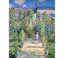 Claude Monet - The Artists Garden At Vetheuil (1880)  Photographic Print