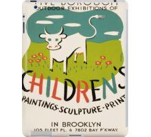 Vintage poster - Children's Paintings iPad Case/Skin