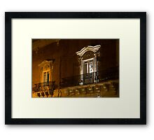 A Glimpse Through the Windows - Sicilian Baroque Palace & Venetian Chandelier Framed Print