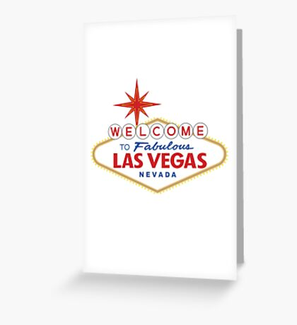 Welcome to Fabulous Las Vegas Sign Greeting Card