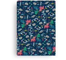 Thai Elephant pattern Canvas Print