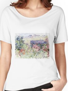 Claude Monet - The House Through The Roses  Women's Relaxed Fit T-Shirt