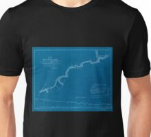 0421 Railroad Maps Map of railroad line commencing at a point on the West-Philadelphia R R 4 miles below its junction with the Columbia R R terminating at the R R bridge at Inverted Unisex T-Shirt