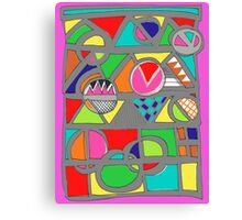 a touch of the eighties Canvas Print