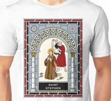 ST STEPHEN, FIRST MARTYR under STAINED GLASS Unisex T-Shirt