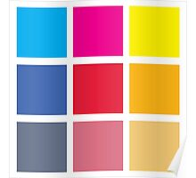 Squares of Color Poster