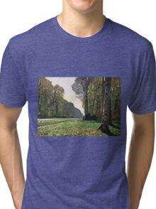 Claude Monet - The Road To Bas-Breau, Fontainebleau (Le Pave De Chailly) 1865  Tri-blend T-Shirt