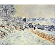 Claude Monet - The Road To Vetheuil Snow Effect Photographic Print