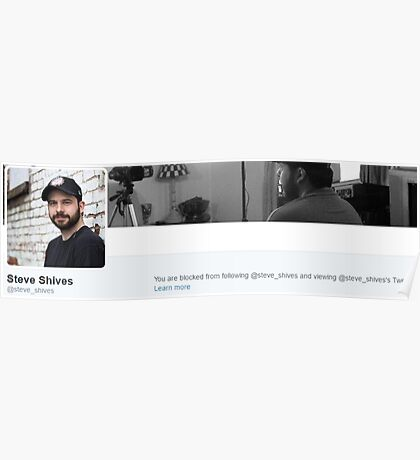Blocked by Steve Shives Poster
