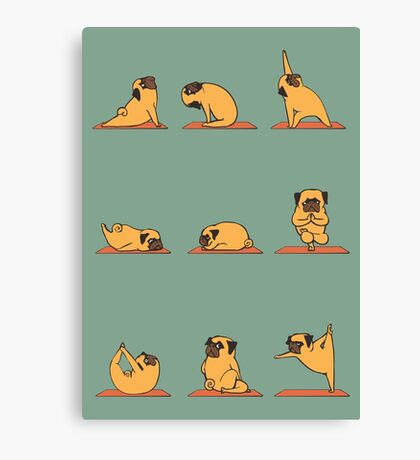 Pug Yoga Canvas Print