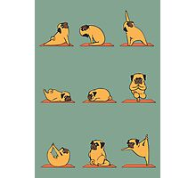 Pug Yoga Photographic Print