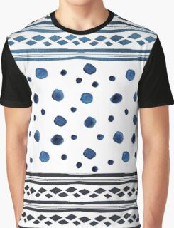 Forms blue watercolor Graphic T-Shirt