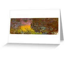Claude Monet - The Water Lilies - Setting Sun (1915 - 1926)  Greeting Card