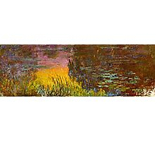 Claude Monet - The Water Lilies - Setting Sun (1915 - 1926)  Photographic Print