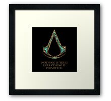 Assassins creed Lexicon mash up Framed Print
