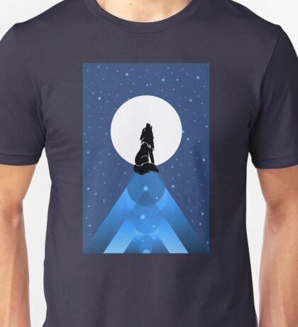 Howling Wild Wold Unisex T-Shirt