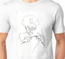 Knitting with concentration Unisex T-Shirt