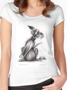 Mr Woof the dog Women's Fitted Scoop T-Shirt