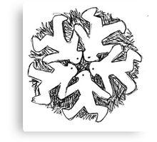 snowflake system Canvas Print