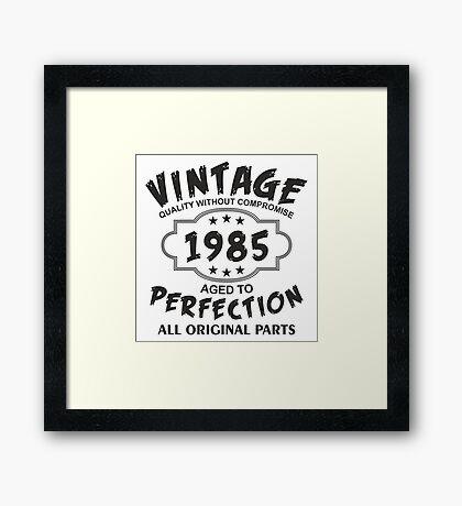 Vintage 1985 Framed Print