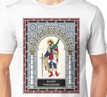 ST THEODORE under STAINED GLASS Unisex T-Shirt