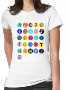 Alphabet  Womens Fitted T-Shirt