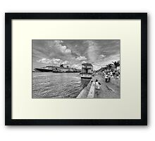 Prince George Wharf in Nassau, The Bahamas Framed Print