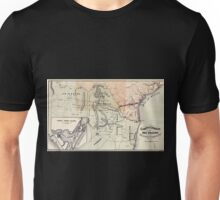 0248 Railroad Maps Corpus Christi and Rio Grande Railway Company map showing the proposed railroad between Laredo and Corpus Christi and its connections with Unisex T-Shirt