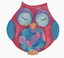Boho the sleepy owl Kids Tee