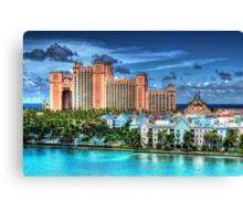 Atlantis Towers and Harbor Village in Paradise Island, Nassau, The Bahamas Canvas Print