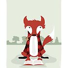 """Old Red the Reading Fox - """"Up North"""" series 1 of 3 by JEREMIAHJAMES"""